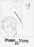 Rukia and Renji by Orihime-chan