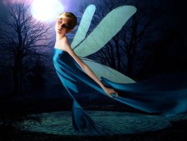 fairy blue Painting-light3 by rusrick