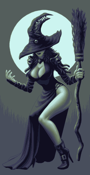 16 Bit Witch by Wolfenoctis