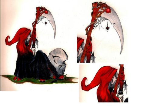 Grimm Reaper and Details by TwistedRidingHood