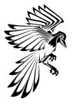 Tribal Tattoo: Magpie by nerds2x2ever