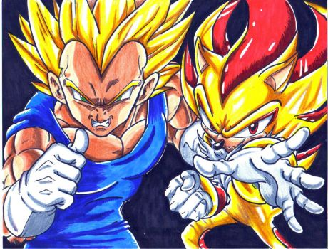 s vegeta and s shadow colored by trunks24
