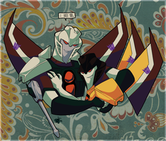 Ramjet and Sunstorm by Humblebot