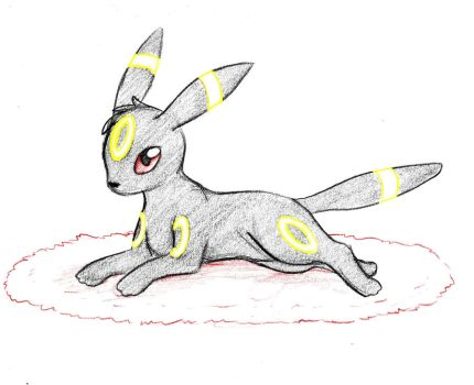 Pokemon Sketch request 04 - Umbreon by Azouie