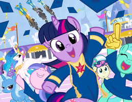 Twilight's Graduation by PixelKitties