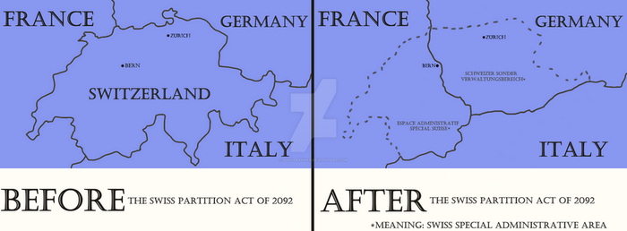 Partitioning of Switzerland, 2092 CE by Dinotrakker