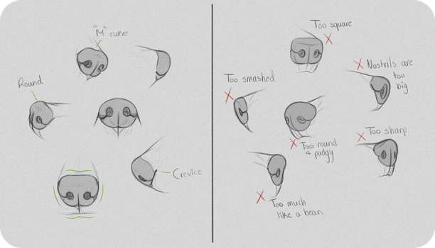 how to draw comic noses