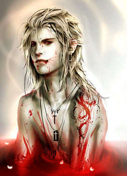.Bath in blood. by sakimichan