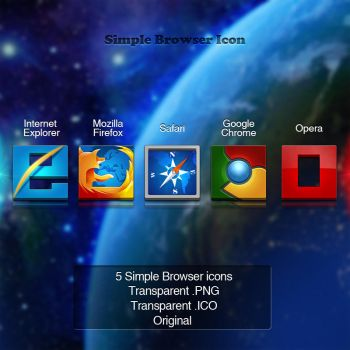 5 Simple Browser Icons by Schulerr