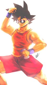 Goku's summer work out by EarthsSaviorSonGoku