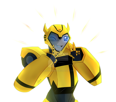 Peace with BumbleBee by dinosaphira99