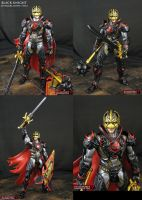 Custom Movie style Avengers Black Knight figure by Jin-Saotome