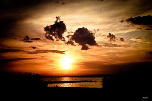 sunset over the camargue by TrePoint