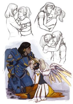 Overwatch Sketches 1 by hobbittiponi