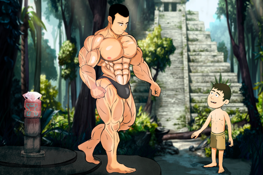 sam and matt muscle growth 2 by Salvador503