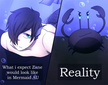 zane mermaid AU expectation vs Reality by jettnight