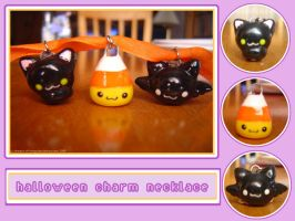 Halloween Charm Necklace by Dreams-of-Wings