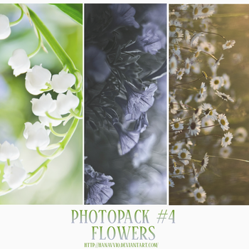 PHOTOPACK #4 FLOWERS by Hanavv10
