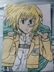Armin Arlert Coloured by Rambo-Jewsters