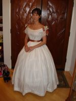 White Ball Gown by Lady-Lovelace