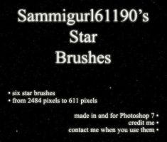 Star Brushes by sammigurl61190