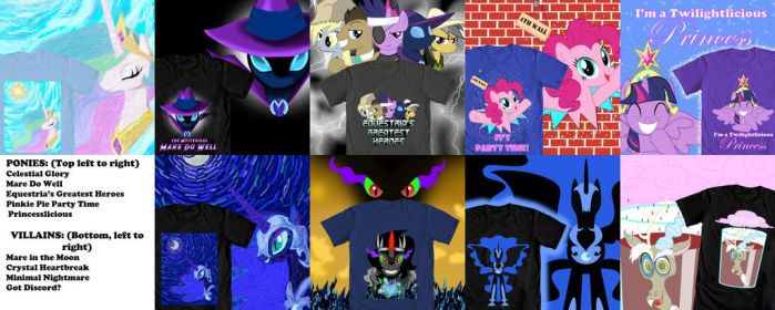 WeLoveFine MLP Contest Designs (with links) by Wolfram-And-Hart