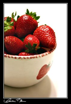 Bowl of Strawberries by Shalora