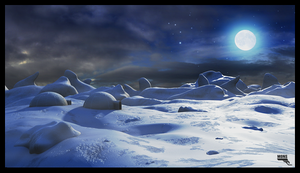 Ice Landscape by MarcMons007