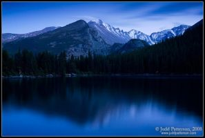 Longs Peak in Blue by juddpatterson