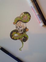 Skull and Snake by DanielRound