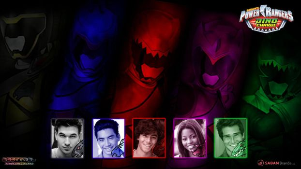 Power Rangers Dino Charge Cast Wallpaper by scottasl