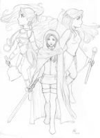 Two Fairies and a Girl REDONE by renko