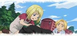 Winry and Ed by lovefma