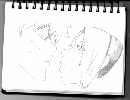 Last First Kiss - NOT COLORED by LetsBecomeMemories