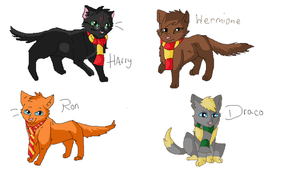Harry Potter Cat designs by MiddyLPS
