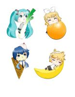 Vocaloid Chibis by Chisou