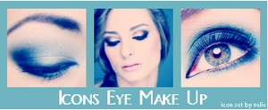 Eye MakeUp Icons by fairypoetess