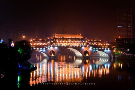 Bridge With Lights by couleur