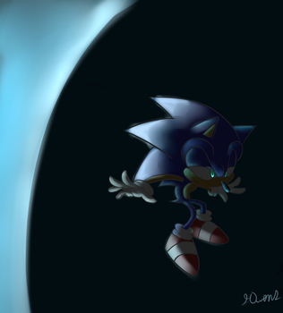 Sonic (Art Trade) by Geemoney1022