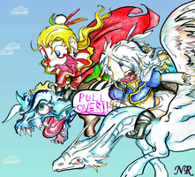 Kefka And Kuja by MilkToothCuts