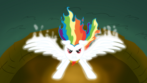 Super Rainbow Dash Full Power by pageturner1988