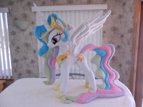 My first Celestia signed by Nicole Oliver by EquestriaPlush