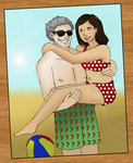 Clara/Twelve: A Day at the Beach by cookiepianosart