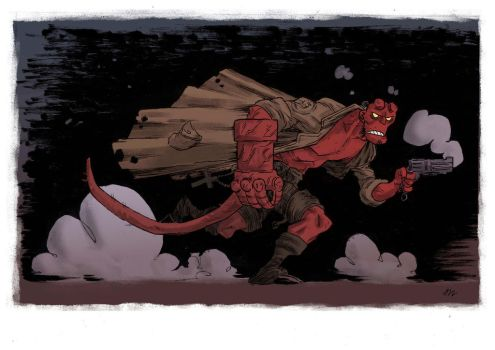 hellboy commission by marklaszlo666