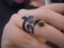 Peacock inspired Wire Ring by BevyArt