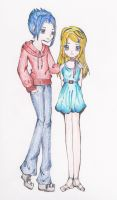 Teddy and Victoire by azelmajondrette
