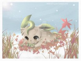 + leafeon in the snow +