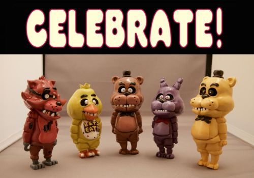 (SOLD OUT) FNAF's Anniversary!  ETSY by CassowaryRoom