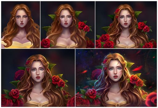 How To Create Belles Hairstyle From Beauty And The Beast : Beauty and the beast favourites by ultra43 on deviantart