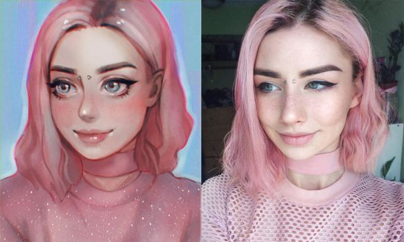 Cartoon and Reality - Nathalie by serafleur